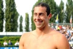 Randall Bal. MILAN, ITALY - SEPT 21:  Randall Bal swimming champion during the performance september 21, 2008 in Milan, ITALY Royalty Free Stock Image
