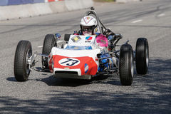 Randall Lawson in einem Formel 1-Rennwagen Renaults GRAC stockbild