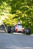 Randall Lawson em um carro de competência do Fórmula 1 de Renault GRAC Foto de Stock