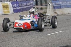 Randall Lawson i en tävlings- bil för Renault GRAC formel en Arkivfoto