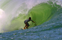 Randall Paulson Surfing at Bowls Stock Photography