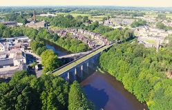 Randalstown Railway Viaduct Bridge over river Maine Co. Antrim Northern Ireland. Randalstown Railway Viaduct Bridge over river Maine in Co. Antrim Northern royalty free stock photo