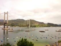 Rande bridge in Vigo, Spain. Rande bridge and mussel in Vigo, Spain Royalty Free Stock Photos