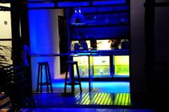randello all'interno della scena di notte Fotografia Stock