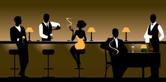Randello & ristorante di notte Immagini Stock Libere da Diritti