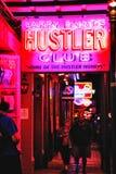 Randello del Hustler della via di New Orleans Bourbon Fotografia Stock