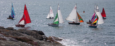 Randello di navigazione della baia di Trearddur Fotografia Stock Libera da Diritti