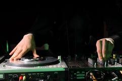 Randello di notte di musica del DJ Fotografia Stock
