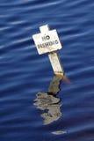 Randello di pesca con l'amo dell'acqua ad ovest fotografia stock