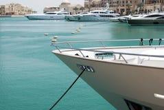 Randello di yacht occupato Fotografie Stock Libere da Diritti