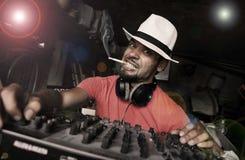 Randello DJ Fotografia Stock Libera da Diritti