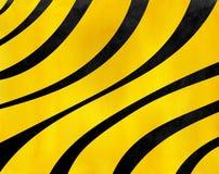Randig bakgrund för för vattenfärgsvart och guling Royaltyfri Bild