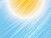 Randig bakgrund för gulingblåttsommar stock illustrationer