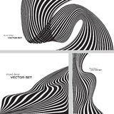 Randig designbakgrundsse Vektor Illustrationer
