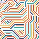 Randig färgrik sömlös geometrisk modell Arkivbilder