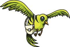 Randig fågel med en handväska fotografering för bildbyråer