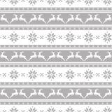 Randig julmodell med deers seamless vektor för bakgrund Royaltyfria Bilder