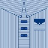 Randig manklänningbakgrund Blått skjortafarsakort, illustration Arkivbild