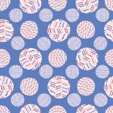 Randig polka Dot Circle Seamless Vector Pattern vektor illustrationer