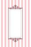 Randig ram för Pink royaltyfri illustrationer