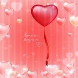 Randig rosa bakgrund för hjärta 02 Royaltyfri Fotografi