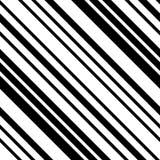 Randig sömlös modell för svartvit Diagonal royaltyfri illustrationer