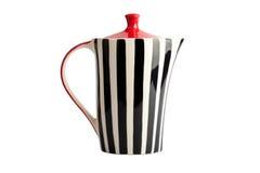 randig teapot Royaltyfria Foton