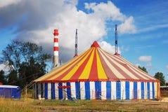 randig tent för cirkus Arkivfoton