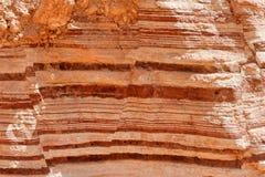 randig textur för röd rock Royaltyfri Fotografi