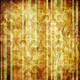 Randig wallpaper för tappning Royaltyfri Bild