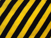 randig yellow för svart tyg royaltyfri bild