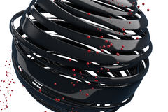 randiga dekorativa bollar 3D Arkivbild