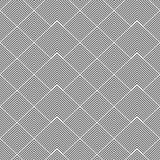 Randiga former - sömlös geometrisk modell Royaltyfria Bilder