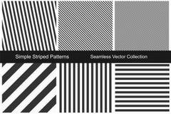 Randiga modeller Sömlös vektorsamling royaltyfri illustrationer