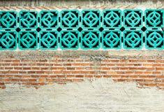 Randiga tegelstenväggar används som bakgrunden fotografering för bildbyråer