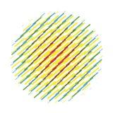 Randigt objekt Runt abstrakt cirkelvektortecken stock illustrationer