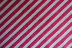 Randigt rosa färg- och vittyg från över Royaltyfria Bilder