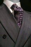Randigt (vertikala) omslag och mönstrad Tie, Arkivfoto