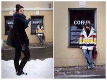 randka w ciemno mężczyzna spotkania kobieta Fotografia Stock