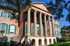 Randolph Hall en la universidad de Charleston en el SC de Carolina del Sur imagen de archivo libre de regalías