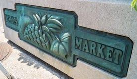 Randolph Street Market. Median Marker at Randolph Street Market Royalty Free Stock Photography