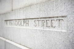 Randolph Street Name Photographie stock libre de droits