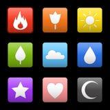 Random abstract icons set. Royalty Free Stock Photos
