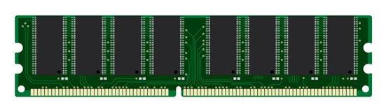 Random access memory. On white Stock Photos