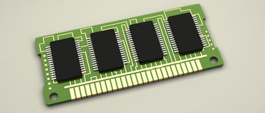 Random access memory 3d Royalty Free Stock Image