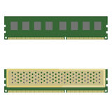 Random Access Memory Detailed. Vector Illustration Stock Photography