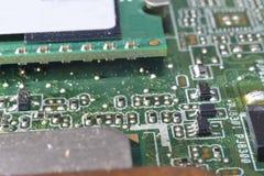 Random access memory on motherboard Stock Photos
