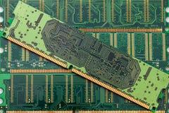Random access memory (RAM). Stick of computer random access memory (RAM) background royalty free stock image