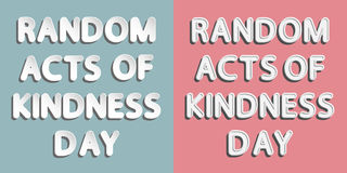 Random Acts of Kindness Day Royalty Free Stock Photos