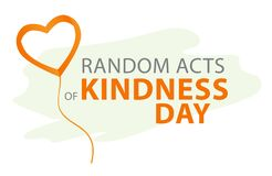 Free Random Acts Of Kindness Day Emblem Isolated Vector Illustration. World Altruistic Holiday Event Label. Royalty Free Stock Photo - 199022895